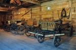 Fragment wystawy - Środki transportu wiejskiego