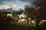 KRAJOBRAZ ZE STADEM Philips Peter Roos zw. Rosa da Tivoli /1655 lub 1657  1706
