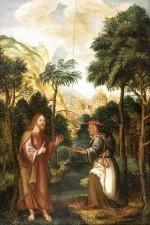 Kuszenie Chrystusa, ok. 1577, olej, deska