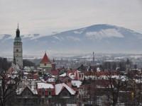 Widok na stare centrum Żywca